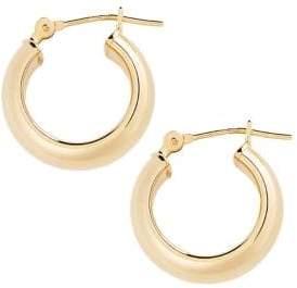 Fine Jewellery 14K Yellow Gold Hoop Earrings
