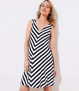 136fda60218 LOFT Maternity Chevron Sleeveless Swing Dress