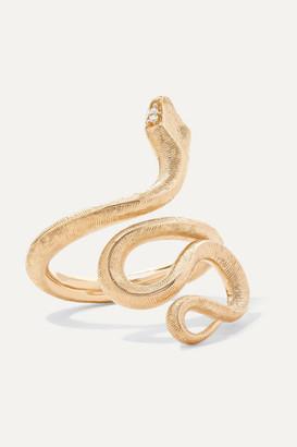 OLE LYNGGAARD COPENHAGEN - Snake Medium 18-karat Gold Diamond Ring
