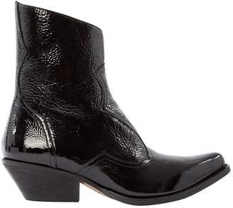 Emporio Armani Black Patent leather Boots