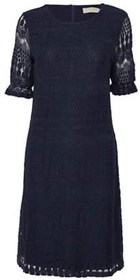 Cream Melissa Crochet-Trim Dress