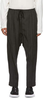 Black Limited Edition Abasi Rosborough Wool Ankara Trousers