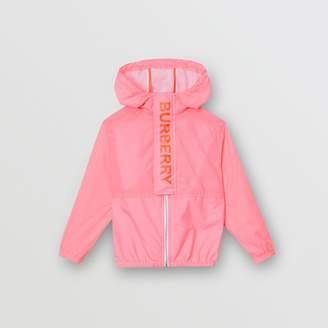 Burberry Childrens Logo Print Lightweight Hooded Jacket