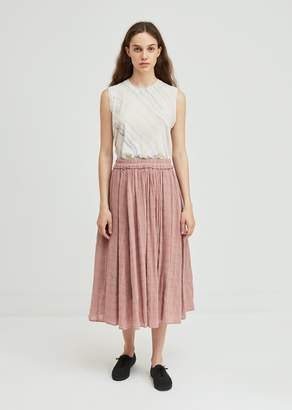Raquel Allegra Plaid Gauze Full Skirt