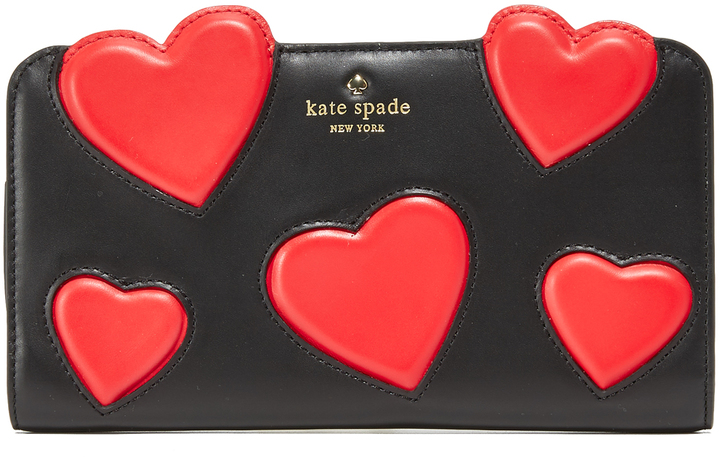 Kate Spade Kate Spade New York Be Mine Heart Applique Adelina Wallet