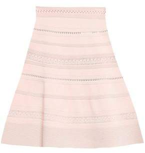 Sandro Crochet-trimmed Stretch-knit Mini Skirt