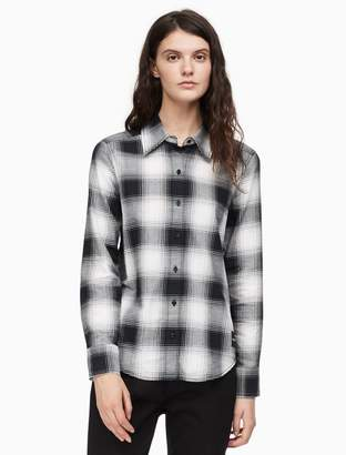 Calvin Klein buffalo check button down flannel shirt