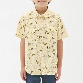 GU (ジーユー) - (GU)プリントシャツ(半袖) OFF WHITE 110