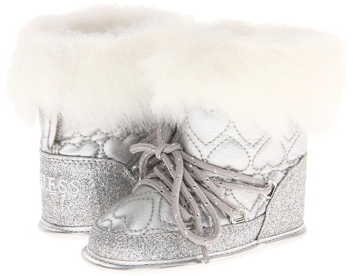 GUESS Kids' - Lugano (Infant) (Silver Sparkle) - Footwear