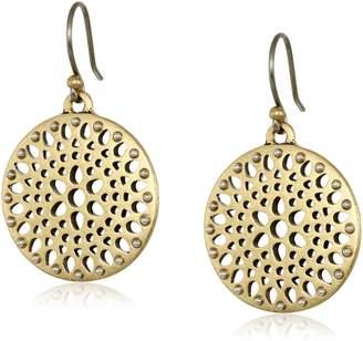 Lucky Brand Two Tone Open Work Drop Earrings