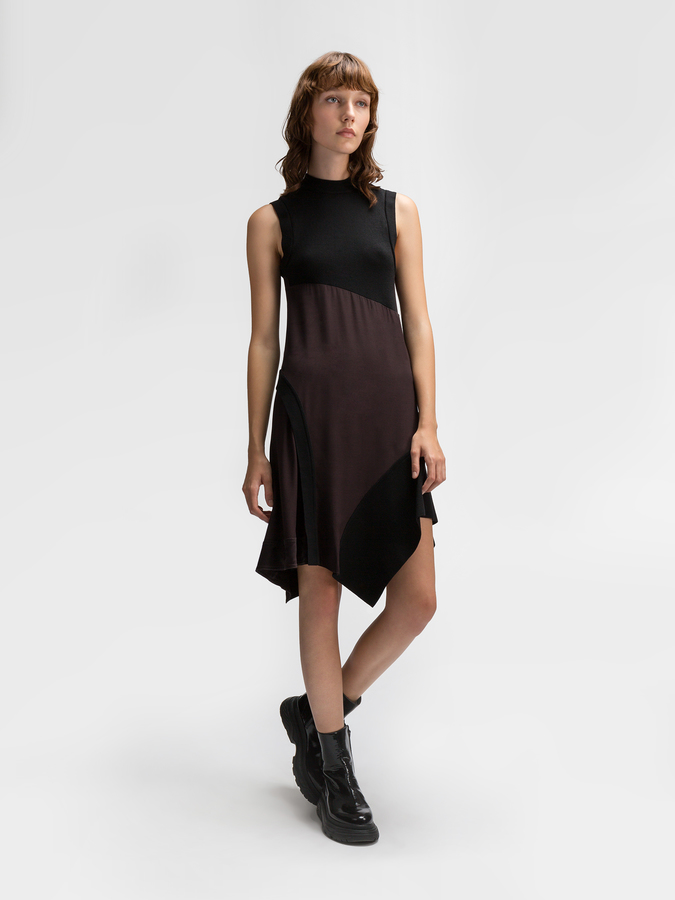 DKNYMixed Media Sweater Dress