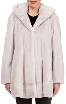 Gorski Mink-Fur Button-Front Hooded Jacket