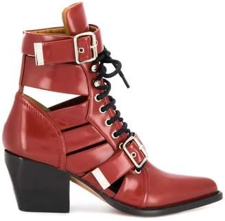 Chloé cut out buckle boots