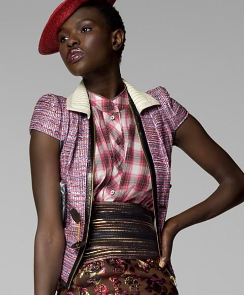 Marc Jacobs Collection Short-Sleeve Tweed Jacket