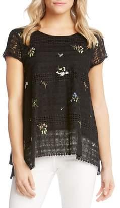 Karen Kane Embroidered Lace Blouse