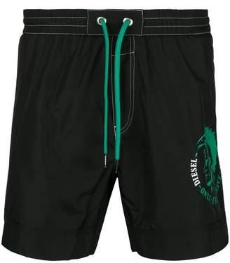 Diesel logo print swim shorts