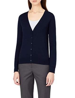 Meraki Women's Fine Merino Wool V-Neck Cardigan Sweater,M (US 8)