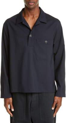 Barena Venezia Long Sleeve Wool Blend Polo