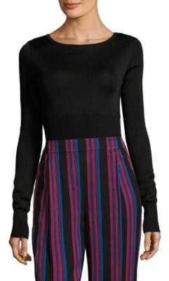 Diane von Furstenberg Long-Sleeve Ribbed Bodysuit
