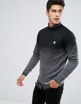 Le Breve Fleck Marl Fade Out Knitted Sweater