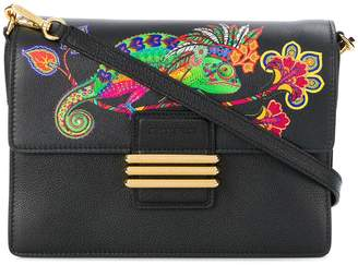 Etro lizard printed satchel