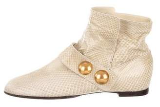 Marc Jacobs Python Ankle Boots
