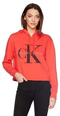 Calvin Klein Jeans Women's Pop Color Hoodie with Monogram Logo