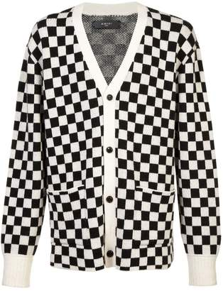 Amiri checked button cardigan