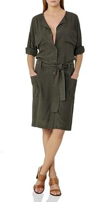 REISS Margot Belted Shirt Dress $330 thestylecure.com
