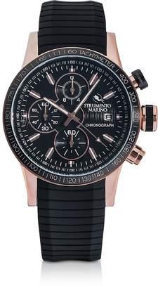 Strumento Marino Admiral Black Silicone Chronograph Men's Watch