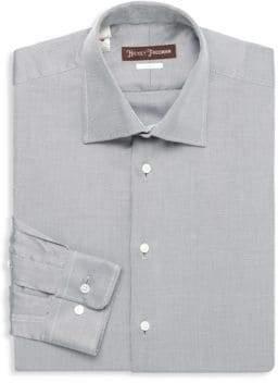 Hickey Freeman Classic Fit Twill Dress Shirt