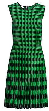 Akris Punto Women's Dot Intarsia A-Line Dress