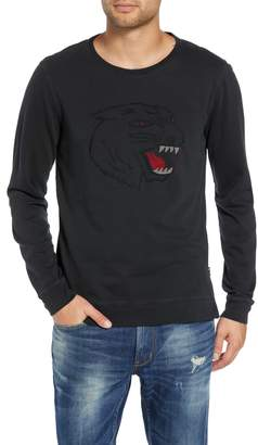 John Varvatos Cat Eyes Embroidered Sweatshirt