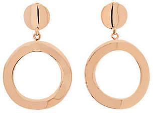 Bronzo Italia Polished Open Ring Dangle Earring
