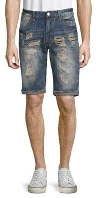 X-RAY Jeans Distressed Denim Shorts