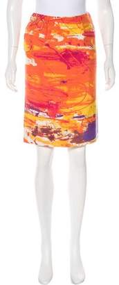 Saint Laurent Printed Knee-Length Skirt