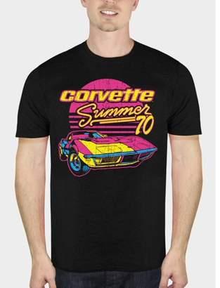 Automotive Corvette Retro Summer '70 Men's Black Graphic T-Shirt, Up to Size 5XL