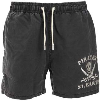 MC2 Saint Barth Skull Micro Fiber Swim Shorts