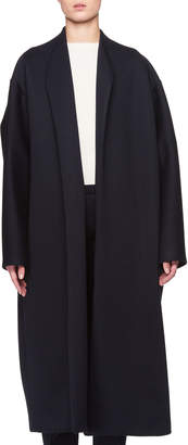 The Row Maiph Shawl-Collar Open-Front Long Coat