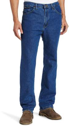 Lee Men's Regular Fit Straight Leg Jean, Deep Indigo Stretch