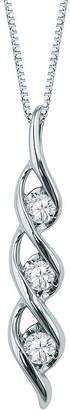 Sirena 1/2 CT. Diamond Solitaire 14K White Gold Pendant Necklace