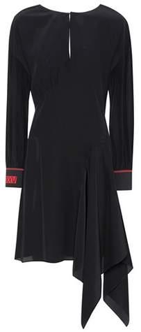 Fendi Asymmetric silk-crêpe dress