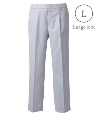 NEWYORKER women's 【ストレッチ】ピンヘッド タックテーパードパンツ(大きめサイズ)
