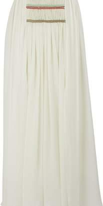 Chloé Silk embroidered maxi skirt