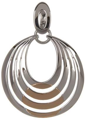 Breuning Sterling Silver & Rose Gold Plated Graduated Oval Round Pendant