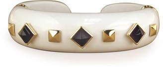 Margot McKinney Jewelry 18k White Agate, Amethyst & Tsavorite Bracelet