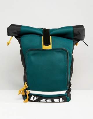 Diesel Broken Logo Roll Top Backpack