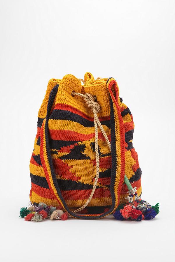 Urban Outfitters Woven Boho Bucket Bag