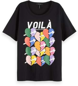Atelier Scotch\U0020\U0026\U0020soda Relaxed Artwork T-Shirt