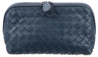 Bottega Veneta Bottega Veneta Intrecciato Leather Cosmetic Pouch